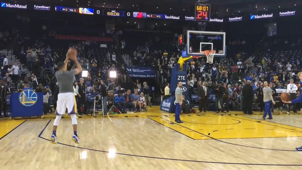 Stephen Curry Shooting Drill Pre-game Practise in Slow Motion_02