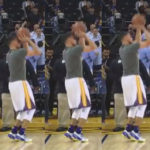 Stephen Curry Shooting Form Slow Motion Frame by Frame Pic